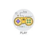 Regolatore Button Icon del gioco di Gamepad Immagini Stock