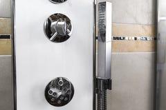 Regolatore della manopola della doccia Fotografia Stock Libera da Diritti
