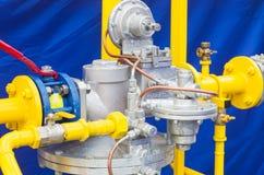 Regolatore di pressione del gas Immagini Stock Libere da Diritti