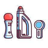 Regolatore Icon Set del gioco di Vr AR Fotografia Stock
