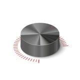 regolatore metallico del volume 3D Fotografie Stock