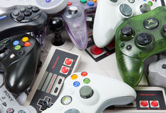 Regolatori di gioco della console Immagini Stock