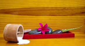 Regolazione con le rocce, fiore della stazione termale, Fotografia Stock Libera da Diritti