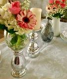 Regolazione d'annata della tavola di nozze Immagine Stock Libera da Diritti