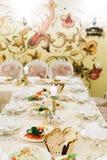Regolazione decorata della tavola di banchetto Fotografia Stock