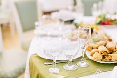 Regolazione decorata della tavola di banchetto Immagine Stock