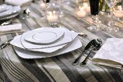 Regolazione del posto di festa (tavola) Immagine Stock Libera da Diritti