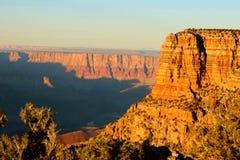 Regolazione del sole di Grand Canyon Immagine Stock