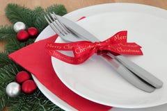 Regolazione della cena di Natale Immagine Stock