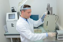 Regolazione della macchina del laboratorio immagine stock libera da diritti