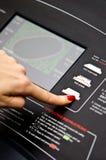 Regolazione della pedana mobile della palestra Fotografie Stock