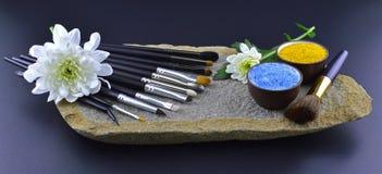 Regolazione della spazzola sull'orizzontale di pietra Fotografia Stock Libera da Diritti