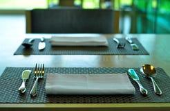 Regolazione della Tabella al ristorante Fotografia Stock Libera da Diritti