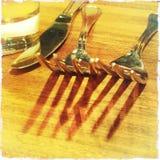 Regolazione della Tabella al ristorante Fotografie Stock
