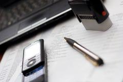 Regolazione della Tabella di contabilità Immagini Stock