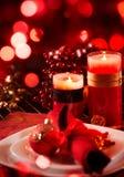 Regolazione della Tabella di festa di Natale Immagine Stock