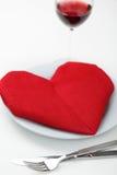 Regolazione della tabella di giorno del biglietto di S. Valentino Immagini Stock Libere da Diritti