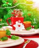 Regolazione della tabella di notte di Natale Fotografia Stock Libera da Diritti