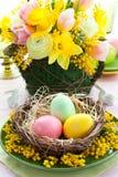 Regolazione della tabella di Pasqua Fotografie Stock