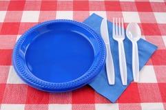 Regolazione della tabella di picnic Immagini Stock Libere da Diritti