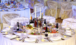 Regolazione della Tabella nel ristorante Immagine Stock Libera da Diritti