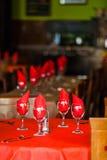Regolazione della Tabella in un ristorante spagnolo Fotografie Stock