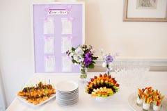 Regolazione della tavola di nozze Immagine Stock Libera da Diritti