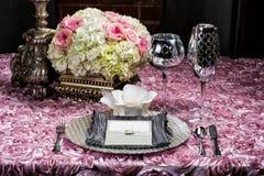 Regolazione della tavola di nozze Immagine Stock