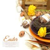 Regolazione della tavola di Pasqua Immagini Stock