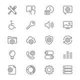 Regolazione delle icone sottili Fotografie Stock Libere da Diritti