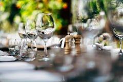 Regolazione di lusso della tavola Fotografie Stock