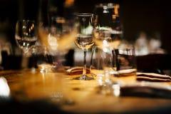 Regolazione di lusso della tavola Fotografia Stock