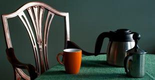 Regolazione di posto del caffè Fotografie Stock