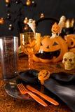 Regolazione di posto di Halloween immagine stock
