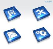 regolazione di vettore 3d ed insieme lucidi dell'icona di web di riparazione illustrazione di stock
