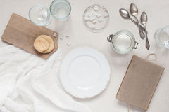 Regolazione domestica della coltelleria Fotografie Stock