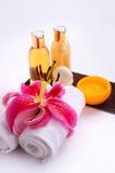 Regolazione essenziale di massaggio Immagine Stock