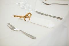 Regolazione festiva della tavola di nozze Immagine Stock Libera da Diritti