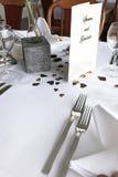 Regolazione romantica decorativa della tabella Fotografia Stock