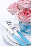 Regolazione romantica della tabella Fotografie Stock