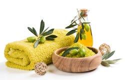 Regolazione verde oliva della stazione termale fotografia stock libera da diritti