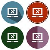 Regolazioni del computer portatile Fotografie Stock