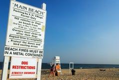Regole della spiaggia Immagine Stock Libera da Diritti