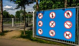 Regole dello stadio Fotografia Stock