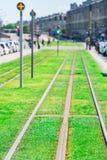Regoli la linea sulla via del Bordeaux, Francia fotografia stock libera da diritti