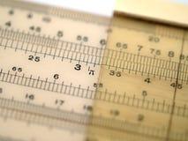 Regolo calcolatore che mostra il pi fotografia stock