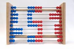 Regolo calcolatore, mostrante numero cinque Fotografia Stock