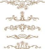 Regra da página de Rosa do esboço Fotografia de Stock Royalty Free