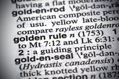 Regra de ouro Imagem de Stock Royalty Free