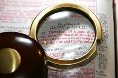 Regra de ouro da Bíblia imagem de stock royalty free
